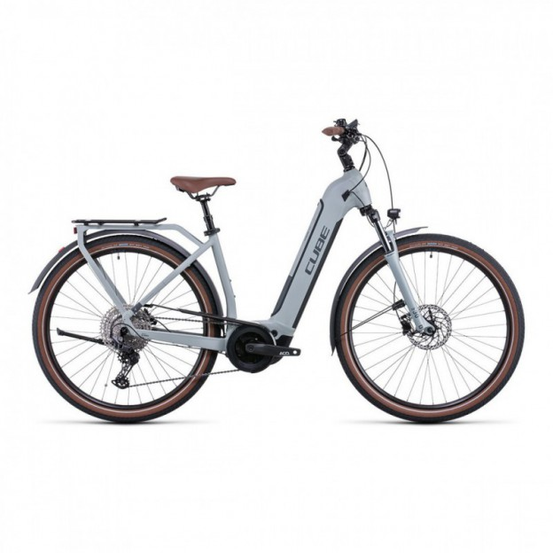 Vélo Electrique Cube Ella Ride Hybrid 500 Easy Entry Rouge/Gris 2021