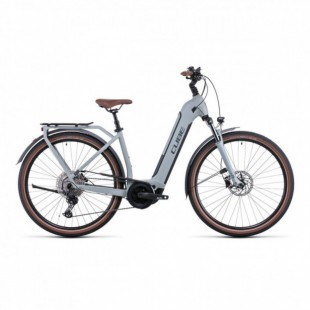 Vélo Electrique Cube Ella Ride Hybrid 500 Easy Entry Rouge/Gris 2021