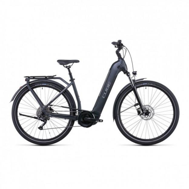 Vélo Electrique Cube Touring Hybrid EXC 625 Trapèze Iridium/Vert 2021
