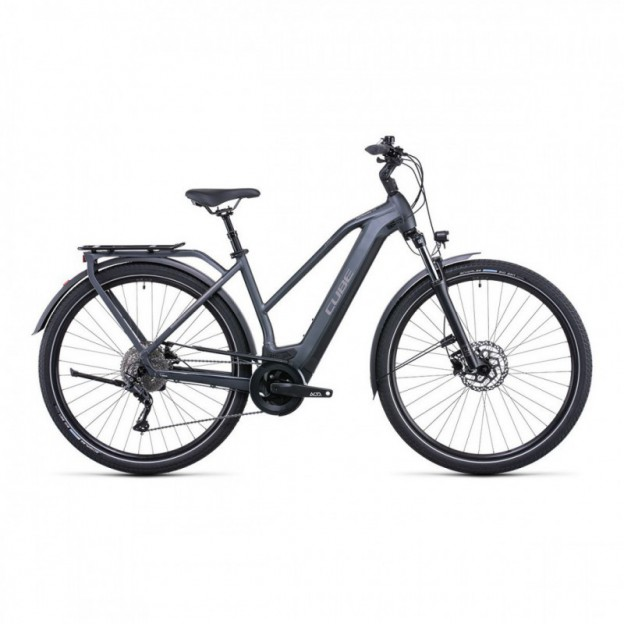 "VTT Electrique 29"" Cube Reaction Hybrid Race 625 Gris/Rouge 2021"